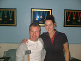 Lee Pearson with Clare from The Inner Picture